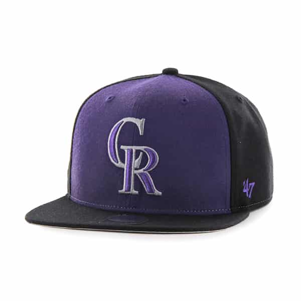 Colorado Rockies Sure Shot Accent Captain Black 47 Brand Adjustable Hat