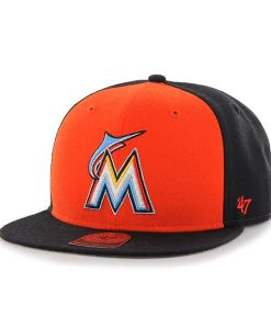 Miami Marlins Sure Shot Accent Captain Black 47 Brand Adjustable Hat