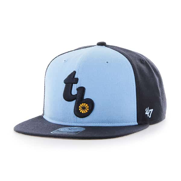 Tampa Bay Rays Sure Shot Accent Captain Navy 47 Brand Adjustable Hat