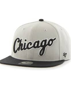 Chicago White Sox Script Side Two Tone Captain Gray 47 Brand Adjustable Hat