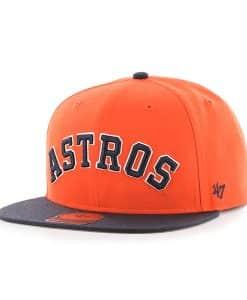 Houston Astros Script Side Two Tone Captain Orange 47 Brand Adjustable Hat
