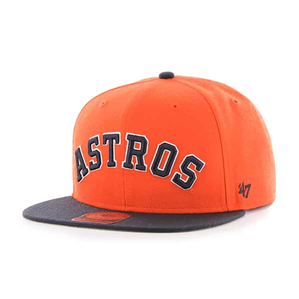 Houston Astros Script Side Two Tone Captain Orange 47 Brand Adjustable Hat