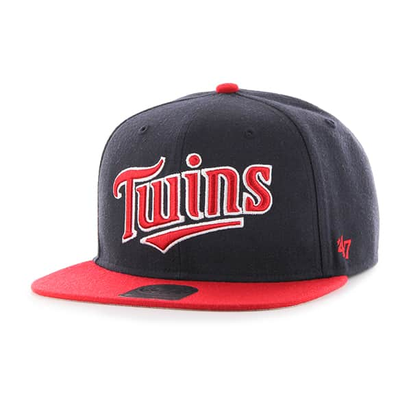Minnesota Twins Script Side Two Tone Captain Navy 47 Brand Adjustable Hat