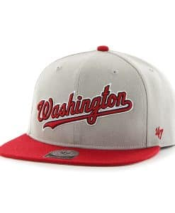 Washington Nationals Script Side Two Tone Captain Gray 47 Brand Adjustable Hat
