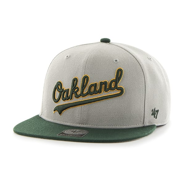 Oakland Athletics Script Side Two Tone Captain Gray 47 Brand Adjustable Hat
