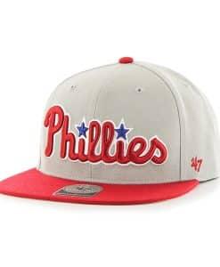 Philadelphia Phillies Script Side Two Tone Captain Gray 47 Brand Adjustable Hat