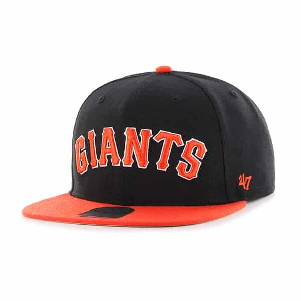 San Francisco Giants Script Side Two Tone Captain Black 47 Brand Adjustable Hat