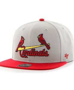 St. Louis Cardinals Script Side Two Tone Captain Gray 47 Brand Adjustable Hat