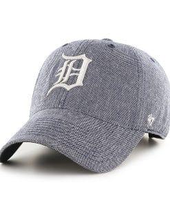 Detroit Tigers Strike Through Clean Up Gray 47 Brand Adjustable Hat