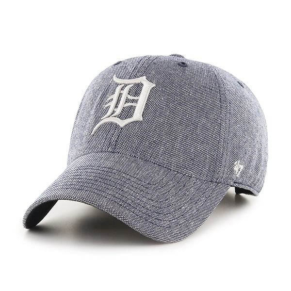 Detroit Tigers Strike Through Clean Up Gray 47 Brand Adjustable Hat