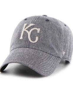 Kansas City Royals Strike Through Clean Up Navy 47 Brand Adjustable Hat