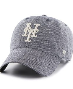 New York Mets Strike Through Clean Up Navy 47 Brand Adjustable Hat