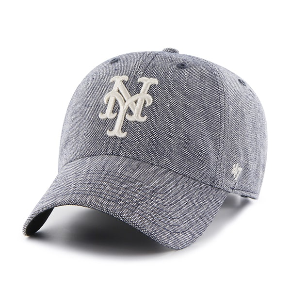 New York Mets Strike Through Clean Up Gray 47 Brand Adjustable Hat