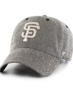 San Francisco Giants Strike Through Clean Up Gray 47 Brand Adjustable Hat