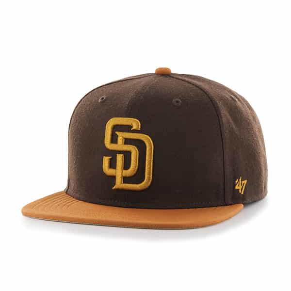 San Diego Padres Sutton Captain Brown 47 Brand Adjustable Hat