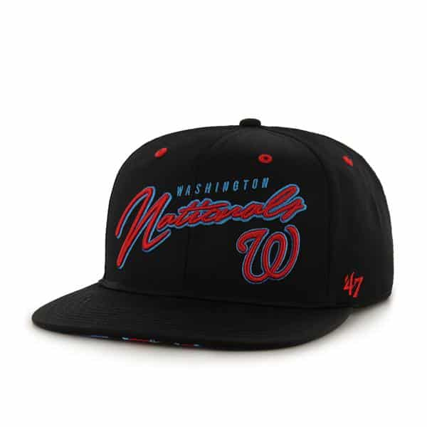 Washington Nationals Sweet Cheese Logo Black 47 Brand Adjustable Hat