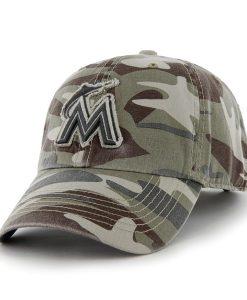 Miami Marlins Tarpoon Faded Camo 47 Brand Adjustable Hat