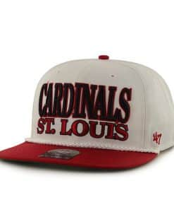 St. Louis Cardinals Tasty Rope Two Tone White 47 Brand Adjustable Hat