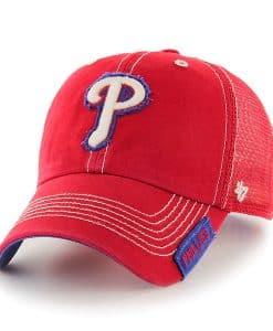 Philadelphia Phillies Turner Clean Up Red 47 Brand Adjustable Hat