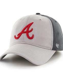 Atlanta Braves Umbra Closer Dark Charcoal 47 Brand Stretch Fit Hat
