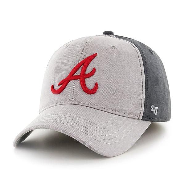 Atlanta Braves Umbra Closer Dark Charcoal 47 Brand Stretch Fit Hat
