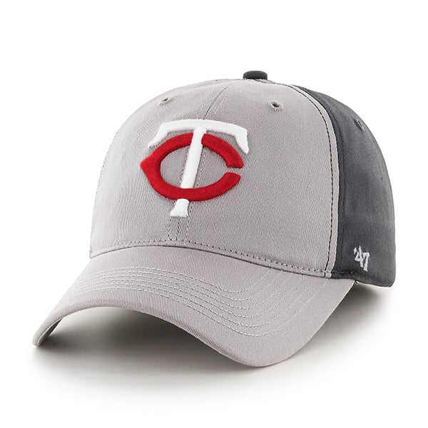 Minnesota Twins Umbra Closer Dark Charcoal 47 Brand Stretch Fit Hat