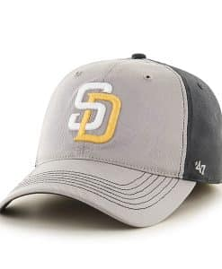 San Diego Padres Umbra Closer Dark Charcoal 47 Brand Stretch Fit Hat