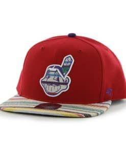 Cleveland Indians Warchild Red 47 Brand Adjustable Hat