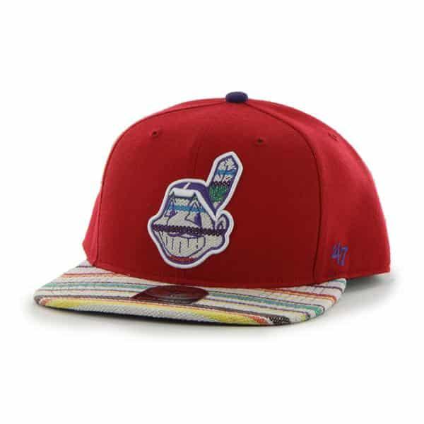 Cleveland Indians Warchild Red 47 Brand Adjustable Hat