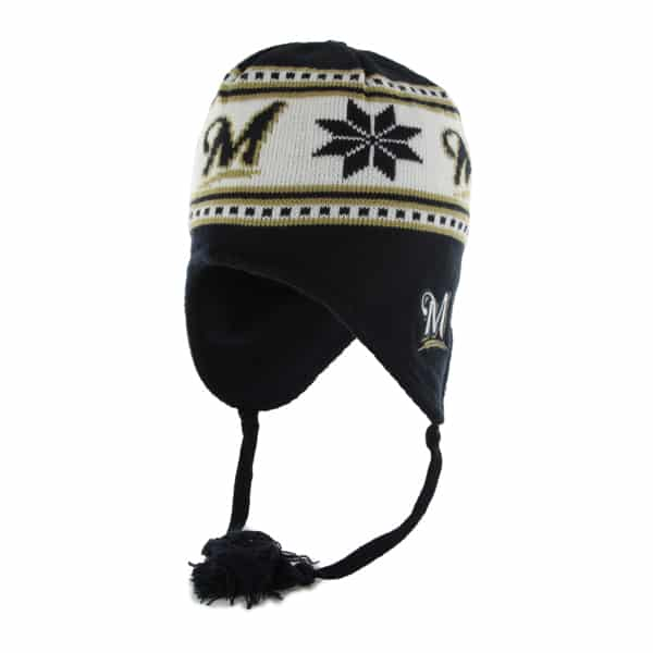 Milwaukee Brewers Wampa Knit Navy 47 Brand YOUTH Hat