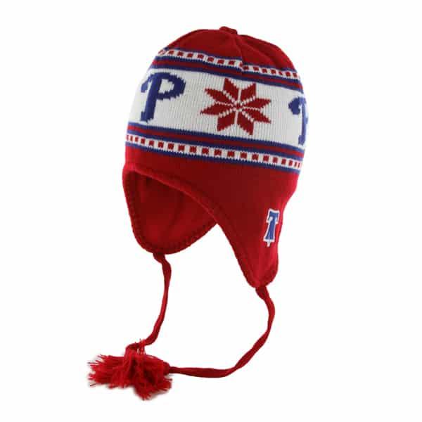 Philadelphia Phillies Wampa Knit Red 47 Brand YOUTH Hat