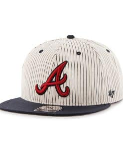 Atlanta Braves Woodside Captain Navy 47 Brand Adjustable Hat