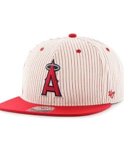 Los Angeles Angels Woodside Captain Red 47 Brand Adjustable Hat