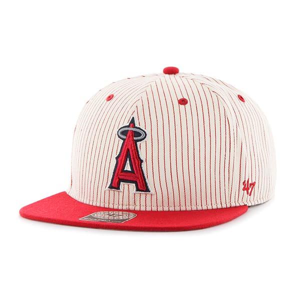 Los Angeles Angels Woodside Captain Red 47 Brand Adjustable Hat