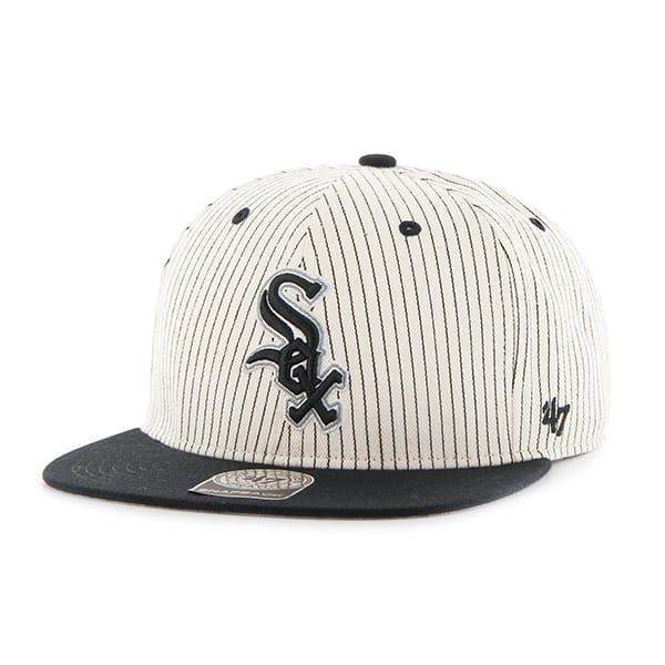 Chicago White Sox Woodside Captain Black 47 Brand Adjustable Hat