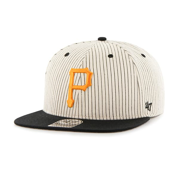 Pittsburgh Pirates Woodside Captain Black 47 Brand Adjustable Hat
