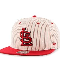 St. Louis Cardinals Woodside Captain Red 47 Brand Adjustable Hat