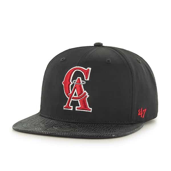 Los Angeles Angels Chuckwalla Captain Black 47 Brand Adjustable Hat