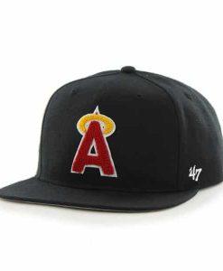 Los Angeles Angels Frat Party After Dark Black 47 Brand Adjustable Hat