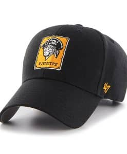 Pittsburgh Pirates MVP Black 47 Brand Adjustable Hat