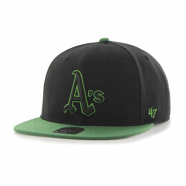 Oakland Athletics No Shot Two Tone Captain Black 47 Brand Adjustable Hat