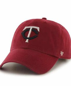Minnesota Twins Clean Up Red 47 Brand Adjustable Hat