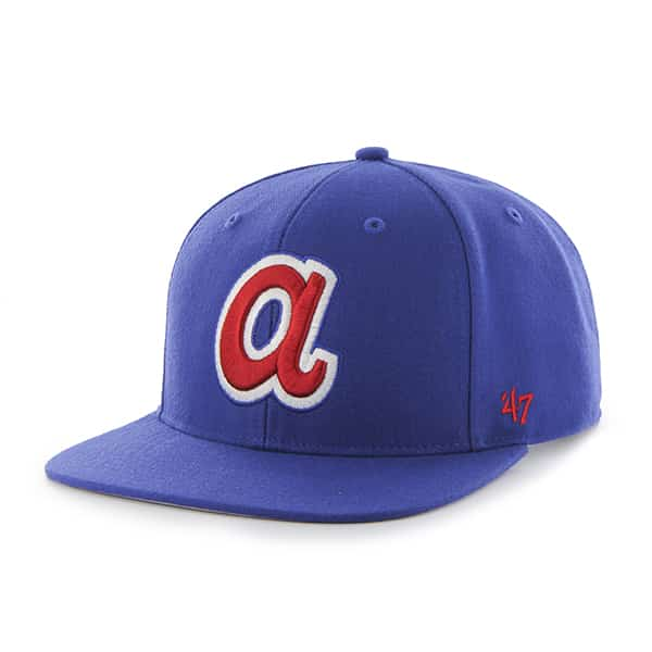 Atlanta Braves Sure Shot Royal 47 Brand Adjustable Hat