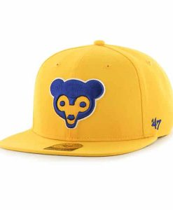 Chicago Cubs Sure Shot Yellow Gold 47 Brand Adjustable Hat
