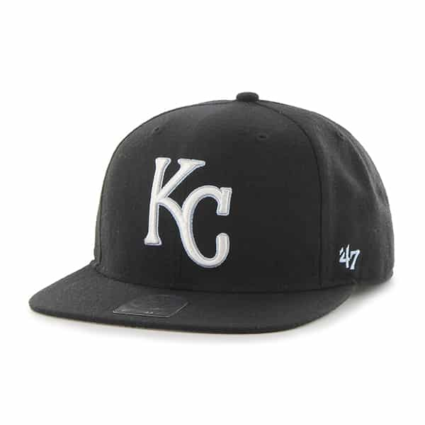Kansas City Royals Sure Shot Black 47 Brand Adjustable Hat