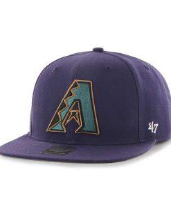 Arizona Diamondbacks Sure Shot Purple 47 Brand Adjustable Hat