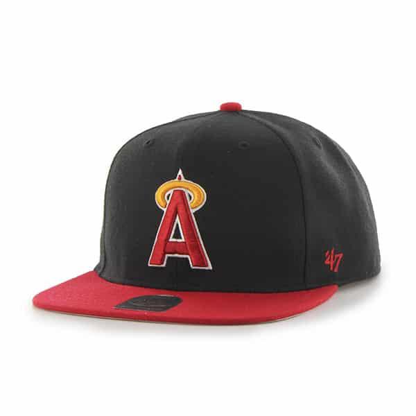 Los Angeles Angels Sure Shot Two Tone Captain Black 47 Brand Adjustable Hat