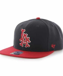 Los Angeles Angels Sure Shot Two Tone Captain Navy 47 Brand Adjustable Hat