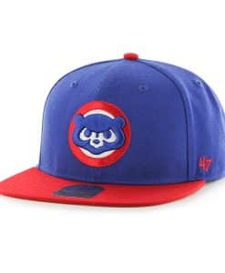 Chicago Cubs Sure Shot Two Tone Captain Royal 47 Brand Adjustable Hat