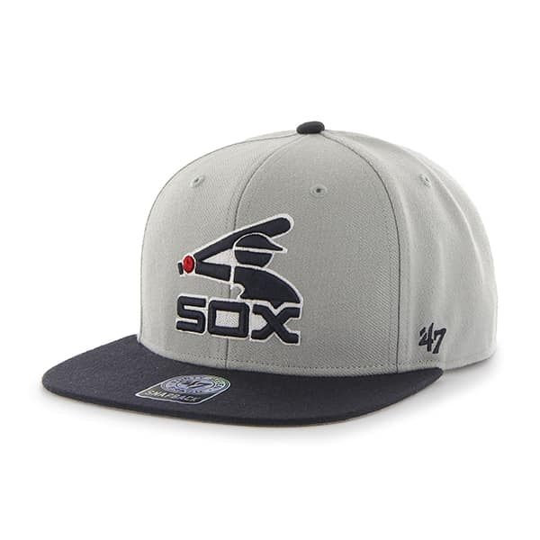 Chicago White Sox Sure Shot Two Tone Captain Gray 47 Brand Adjustable Hat